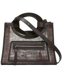 740475baeba6 Lyst - Fendi Runaway Ff Embossed Century Shopper Tote Bag in Brown