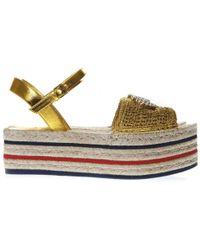 Gucci - Platform Espadrille Sandals - Lyst