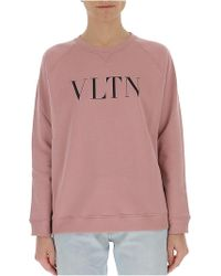 Valentino - Printed Cotton-blend Jersey Sweatshirt - Lyst