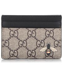 fba6fda768c1 Gucci Signature Bee Wallet in Green for Men - Lyst