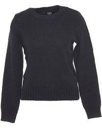 A.P.C. - Crew Neck Sweater - Lyst