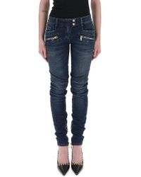 Balmain - Biker Jeans - Lyst