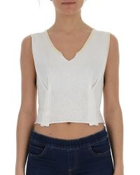 Marni - Cropped V-neck Top - Lyst