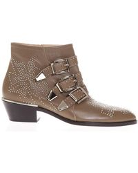 Chloé - Susanna Embellished Boots - Lyst