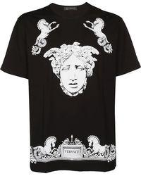 Versace - Medusa Baroque Placement Print Tee - Lyst