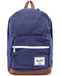 Herschel Supply Co. Pop Quiz Logo Patch Backpack - Blue