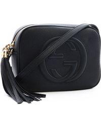 0e4c8f197eb0b2 Gucci Soho Leather Chain Crossbody Bag in Black - Lyst