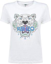 KENZO - Printed Cotton-jersey T-shirt - Lyst