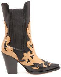 Alberta Ferretti - Bi-colour Texan Boots - Lyst