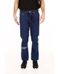 Off-White c/o Virgil Abloh - Embroidered Denim Jeans - Lyst