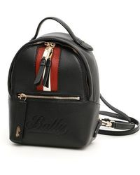 Bally - Logo Embossed Stripe Backpack - Lyst