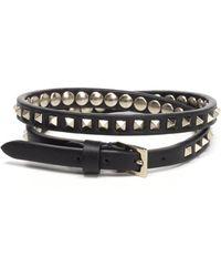 Valentino - Garavani Double Wrap Rockstud No Limit Bracelet - Lyst