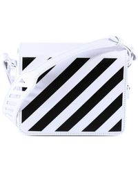 f8d477919d7f Lyst - Off-White c o Virgil Abloh Striped Textured-leather Shoulder ...