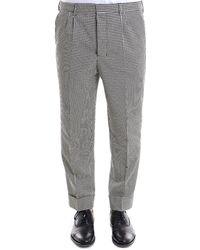 AMI - Checked Tailored Trousers - Lyst