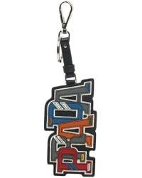 Prada - Saffiano Logo Key Ring - Lyst