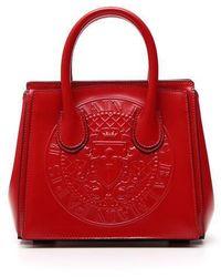 Balmain - Embossed Logo Mini Tote Bag - Lyst