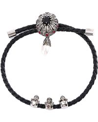 Alexander McQueen - Jewel Triple Skull Bracelet - Lyst