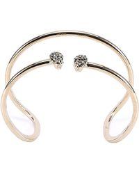 Alexander McQueen - Double Cuff Bracelet - Lyst