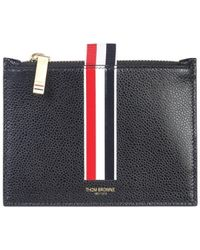 Thom Browne Tri-band Logo Pouch - Black