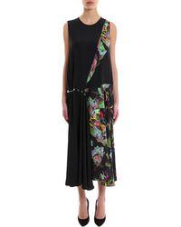 Versus - Asymmetric Midi Dress - Lyst