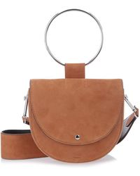 Theory - Suede Whitney Shoulder Bag - Lyst