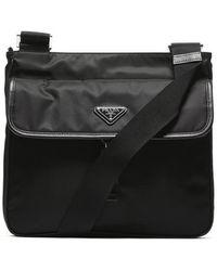 Prada - Logo Messenger Bag - Lyst