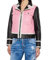 DSquared² - Studded Leather Jacket - Lyst