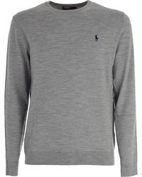 Polo Ralph Lauren - Embroidered Logo Sweater - Lyst