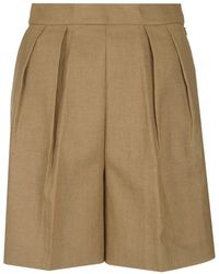 Theory High-waisted Tapered Shorts