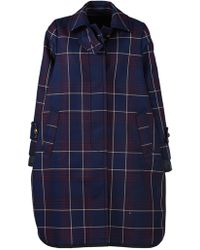 Sacai - Plaid Trench Style Coat - Lyst