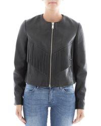 Isabel Marant - Back Fringed Embroidered Leather Jacket - Lyst