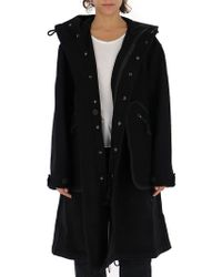 Y-3 - Oversized Hooded Coat - Lyst