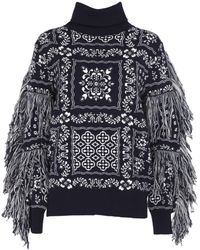 Sacai - Embroidered Roll Neck Jumper - Lyst