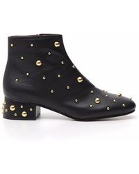 See By Chloé - Jarvis Studded Booties - Lyst