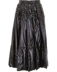 Moncler Genius - 6 Moncler Noir Kei Ninomiya Black Nylon Flowers Skirt - Lyst
