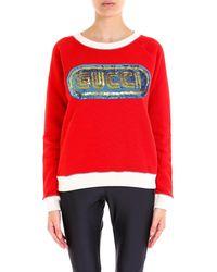 Gucci - Sequin Embellished Sweatshirt - Lyst