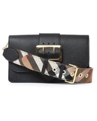 Burberry - Buckle Detailed Changable Strap Crossbody Bag - Lyst