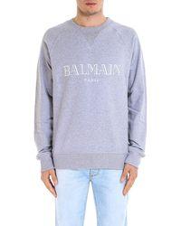 Balmain - Logo Printed Sweatshirt - Lyst