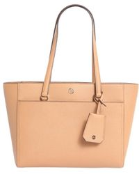 e977798cb1e Lyst - Tory Burch Robinson Large Zip-top Tote Bag in Brown