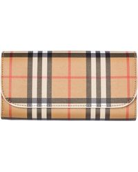 Burberry - Haymarket Check Chain Wallet - Lyst