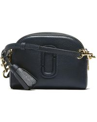 ef1c56e2776a Marc Jacobs Croc Embossed Shutter Camera Bag in Black - Lyst