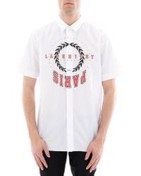 Dior Homme - Paris Upside Down Print Shirt - Lyst