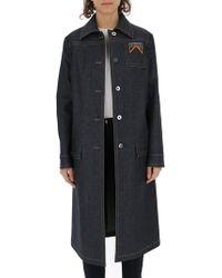 Prada Denim Longline Coat