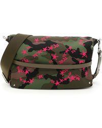 1a10083ba7ad Valentino - Garavani Camouflage Rockstud Messenger Bag - Lyst