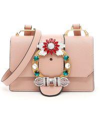 Miu Miu - Embellished Miu Lady Bag - Lyst