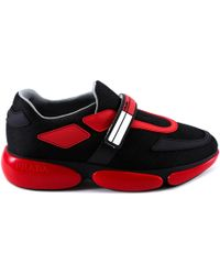 Prada - Contrasting Chunky Sole Sneakers - Lyst