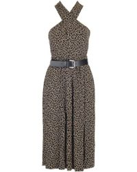 MICHAEL Michael Kors - Leopard Halter Dress - Lyst