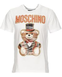 32726828 Moschino White Teddy Bear T-shirt in White for Men - Lyst