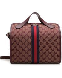 c67ef59c1c Gucci Monogram Gg Weekend Bag in Gray for Men - Lyst