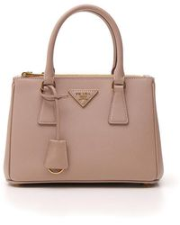 Prada Mini Galleria Logo Tote Bag - Pink